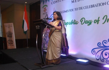 Dinner reception celebrating 69th Republic day of India 2018.