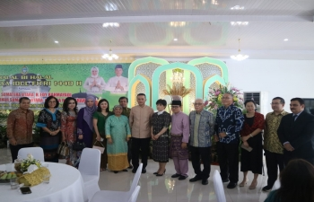 Consul General greets leadership of North Sumatra on occasion of Idul Fitr