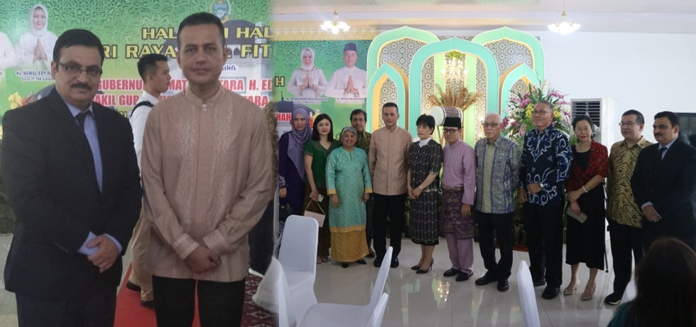 Consul General congratulates the Deputy Governor of North Sumatra Region  Dr. Mr. H. Musa Rajekshah on the occasion of Idul Fitri on 5 June in Medan