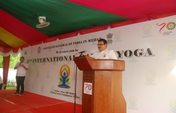 5th International Day of Yoga Celebration at Medan on 23rd June 2019