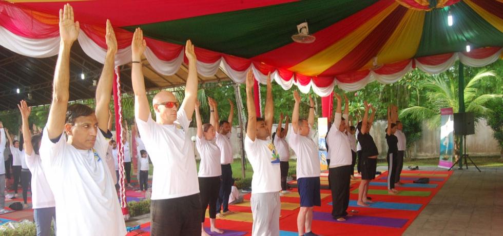 5th International Day of Yoga Celebration at Medan on 23rd June 2019