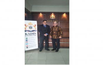 Consul General Raghu Gururaj discussed business potential and opportunities with Chairman, Chamber of Commerce, North Sumatra Region on 10 July.