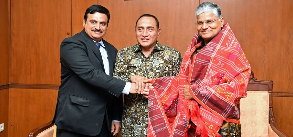 Ambassador and Consul General made a courtesy call on Governor of North Sumatra