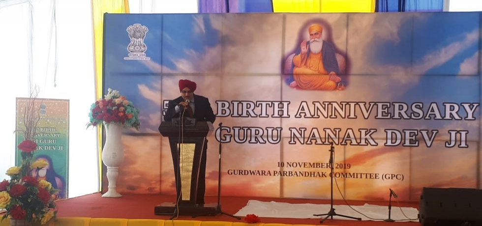 Celebration of 550th Birth Anniversary of Guru Nanak Devji at Medan, November 10, 2019