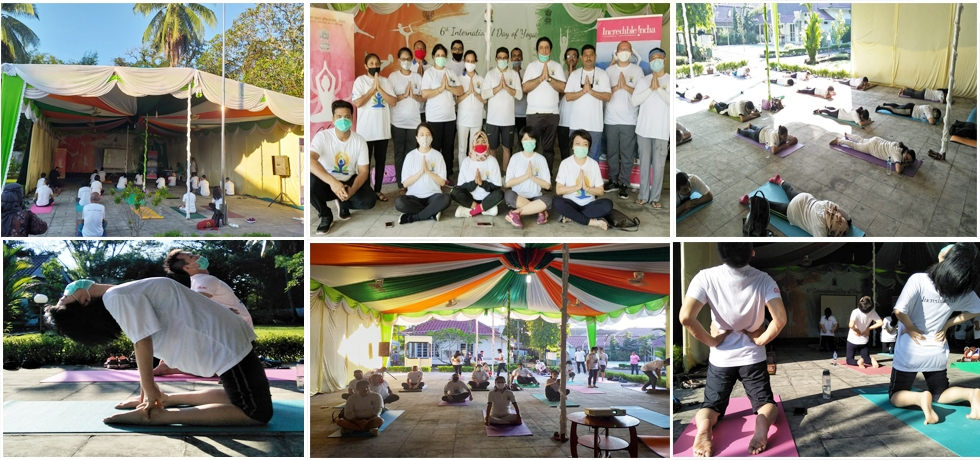 Celebration of 6th International Day of Yoga in Medan - June 21st, 2020