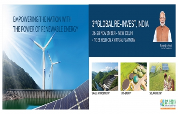 Prime Minister to inaugurate REINVEST- 2020 on 26 November 2020  In India during the last 6 years, over Rs 4.7 lakh crore were invested and India has become a favoured destination for investment in renewables: Shri R.K.Singh